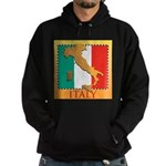Italy Map with Flag Hoodie (dark)