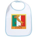 Italy Map with Flag Bib