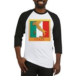 Italy Map with Flag Baseball Jersey