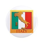 """Italy Map with Flag 3.5"""" Button (100 pack)"""
