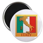 """Italy Map with Flag 2.25"""" Magnet (10 pack)"""