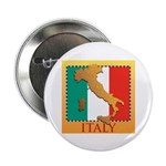 """Italy Map with Flag 2.25"""" Button (100 pack)"""