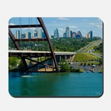 Austin Texas Skyline Bridge Mousepad