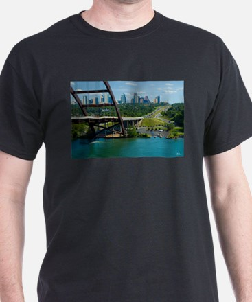 Austin Texas Skyline Bridge T-Shirt