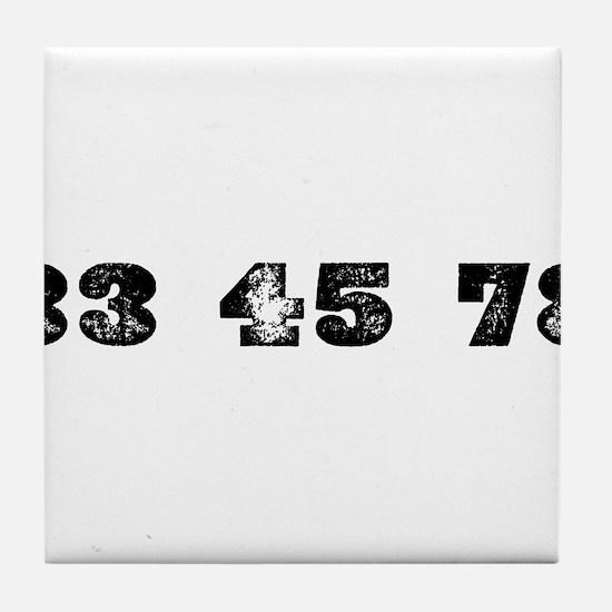 Revolutions per minute Tile Coaster