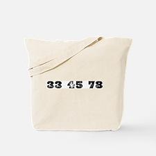 Revolutions per minute Tote Bag