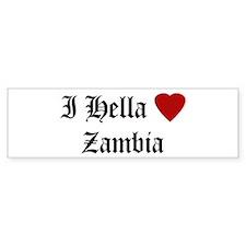 Hella Love Zambia Bumper Bumper Sticker