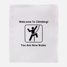 Welcome To Climbing! Throw Blanket
