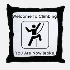 Welcome To Climbing! Throw Pillow