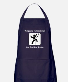 Welcome To Climbing! Apron (dark)