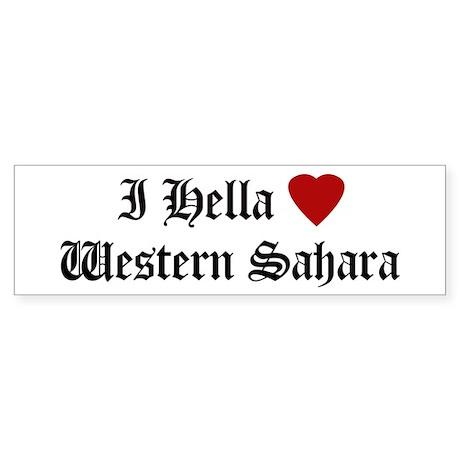 Hella Love Western Sahara Bumper Sticker