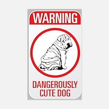 Beware Dangerous Dog Decal