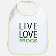 Live Love Frogs Bib