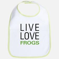 Live Love Frogs Bib