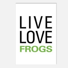 Live Love Frogs Postcards (Package of 8)