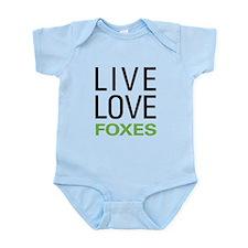 Live Love Foxes Infant Bodysuit