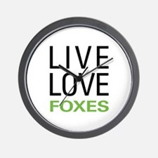 Live Love Foxes Wall Clock