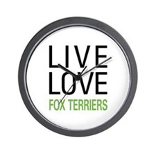 Live Love Fox Terriers Wall Clock