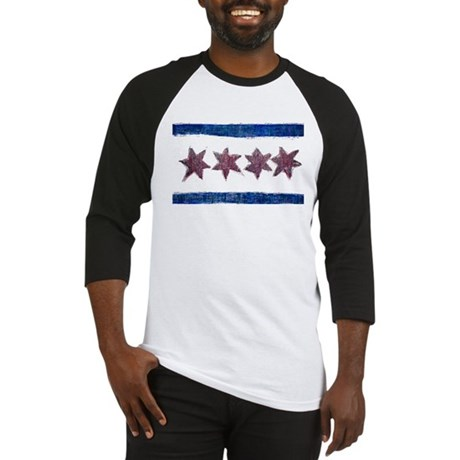 Artistic Chicago Flag Baseball Jersey