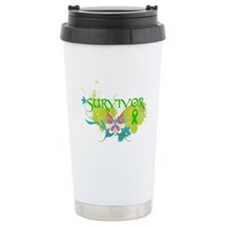Butterfly Bile Duct Cancer Travel Mug