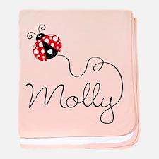 Ladybug Molly baby blanket
