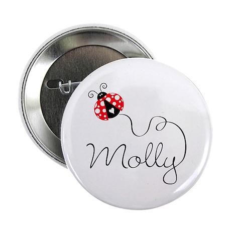 "Ladybug Molly 2.25"" Button"