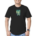 African Antelope Green Men's Fitted T-Shirt (dark)