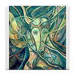 African Antelope Green Tile Coaster