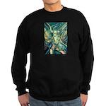 African Antelope Green Sweatshirt (dark)