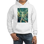 African Antelope Green Hooded Sweatshirt