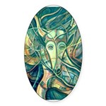African Antelope Green Sticker (Oval 10 pk)