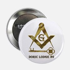 "Doric Lodge #6 2.25"" Button (10 pack)"
