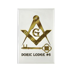 Doric Lodge #6 Rectangle Magnet