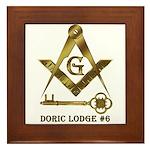 Doric Lodge #6 Framed Tile