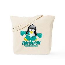 Cervical Cancer Fighting Peng Tote Bag
