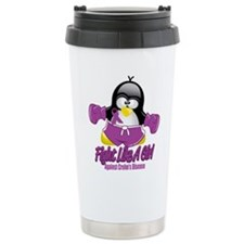 Crohn's Disease Fighting Peng Travel Mug