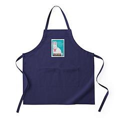 BUNNY LOVE Chefs Apron (navy blue)