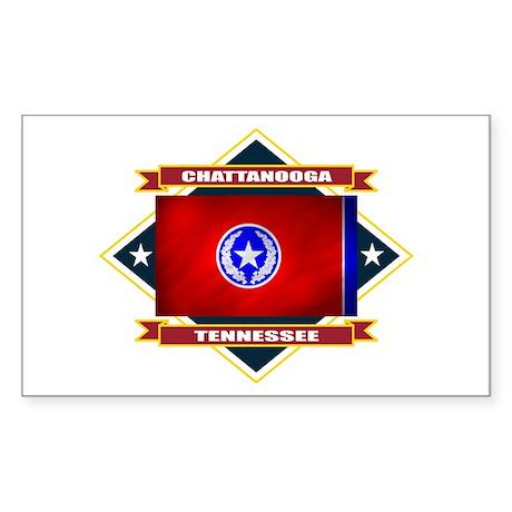 Chattanooga Flag Sticker (Rectangle)