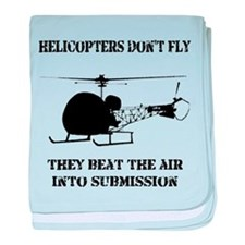 Helicopter Submission baby blanket