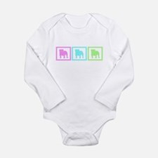 Bulldog Long Sleeve Infant Bodysuit