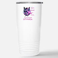 Funny Male breast cancer awareness Travel Mug
