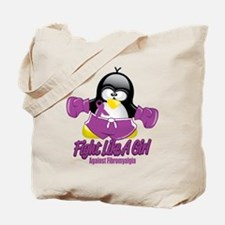 Fibromyalgia Fighting Penguin Tote Bag