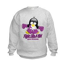 Fibromyalgia Fighting Penguin Sweatshirt