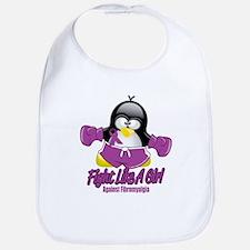 Fibromyalgia Fighting Penguin Bib