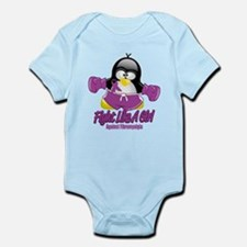 Fibromyalgia Fighting Penguin Infant Bodysuit