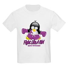 Fibromyalgia Fighting Penguin T-Shirt