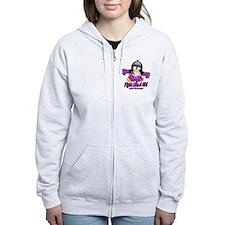 Fibromyalgia Fighting Penguin Zip Hoodie