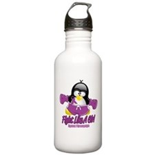 Fibromyalgia Fighting Penguin Water Bottle