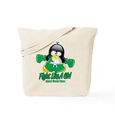 Mental Illness Fighting Pengu Tote Bag
