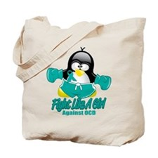 OCD Fighting Penguin Tote Bag